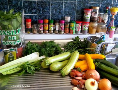 Салат из кабачков и мяты