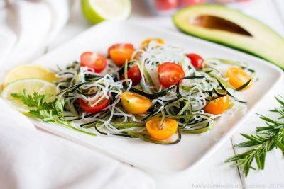 Зеленые спагетти из цукини