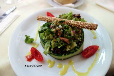 МИКС-САЛАТ с оливково-лимонной заправкой (порционный)