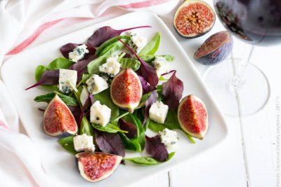 Салат с инжиром и горгонзолой
