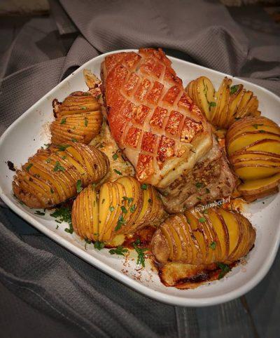 мясо в клеточку, картошка в полосочку